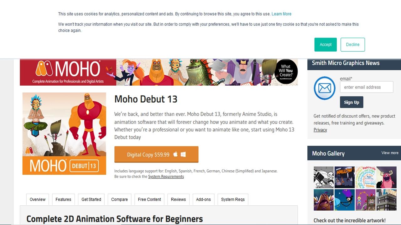 أفضل 2D برامج الرسوم المتحركة المجانية لنظام التشغيل Windows